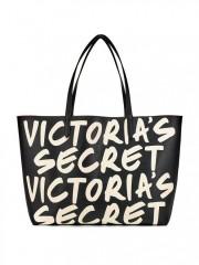Luxusní koženková kabelka s nápisy Victorias Secret