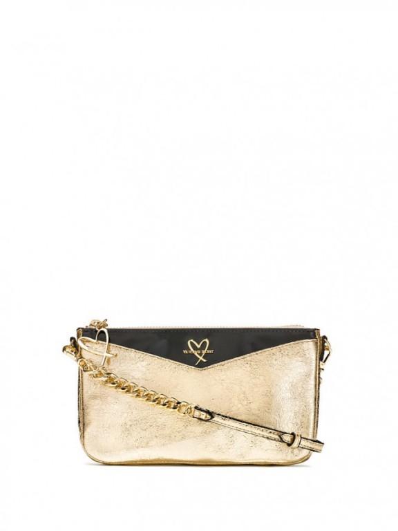 Malá luxusní kabelka Metallic Crackle Slim Downtown Crossbody