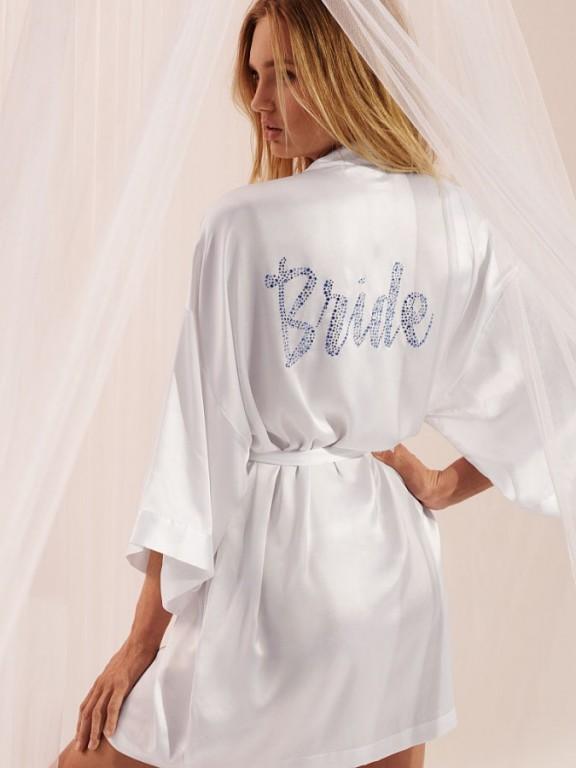 Saténový župan pro nevěsty Dream Angels Bridal Robe