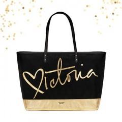 Černá plátěná taška Victoria