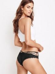 Černé sexy brazilky Crisscross Cheeky Panty