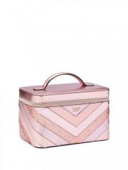 Luxusní pevný kufřík Vanity Case růžový
