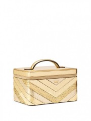 Luxusní zlatý kosmetický kufřík