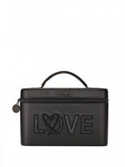 Černý kosmetický kufřík s nápisem LOVE
