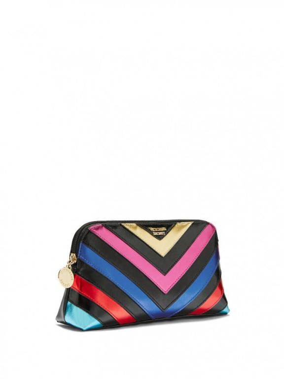 Victoria's Secret střední kosmetická taška On-The-Go Beauty Bag Rainbow