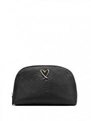 Černá kosmetická taška na dva zipy