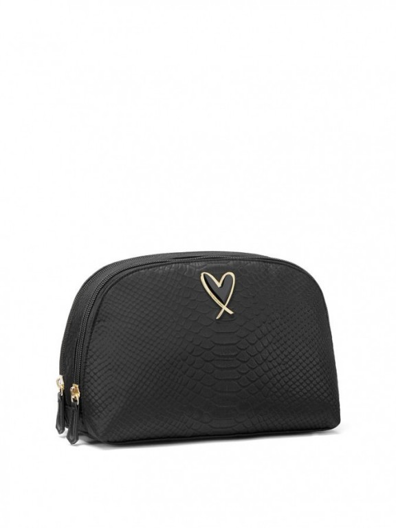 Victoria's Secret kosmetická taška Glam Bag Python černá