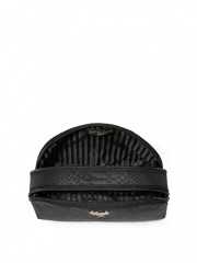 Černá nylonová kosmetická taška