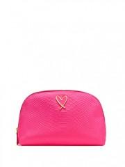 Růžová kosmetická taška Hot Pink Python