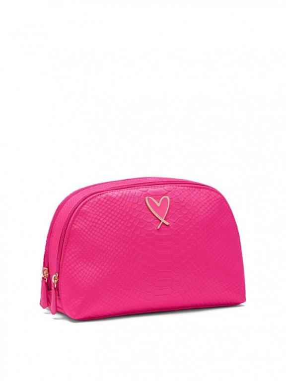 Victoria's Secret kosmetická taška Glam Bag Python růžová