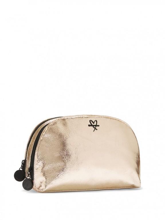 Victoria's Secret zlatá kosmetická taška Metallic Crackle Glam Bag
