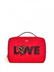 Červený kosmetický kufřík + malé kosmetické taštičky