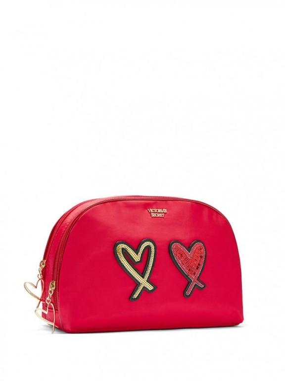 Kosmetická taška Runway Patch Glam Bag červená