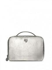 Stříbrný kosmetický kufřík + dvě malé taštičky