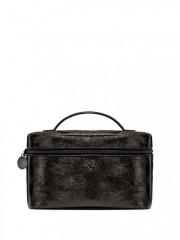 Černý metalický kufřík s taštičkou