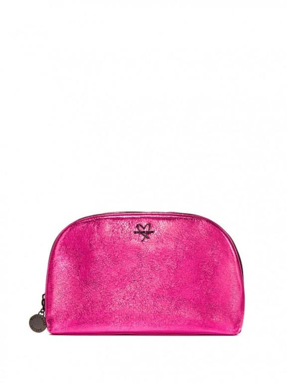 Růžová kosmetická taška Metallic Crackle Glam Bag