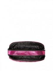 Růžová metalická kosmetická taška Victoria Secret