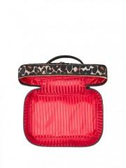 Leopardí kufřík s červenou podšívkou