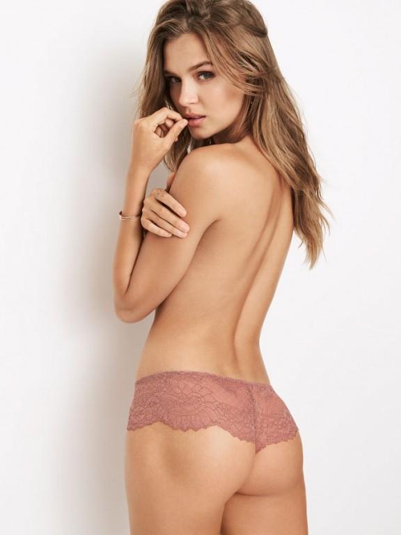 Victoria's Secret luxusní krajkové kalhotky Chantilly Hipster Thong Panty