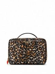 Kosmetický kufřík s leopardím vzorem