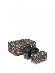Kosmetické leopardí trio kufřík + taštičky