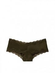 Tamvě zelené cheeky kalhotky s krajkou