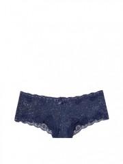 Modré blýskavé cheeky kalhotky