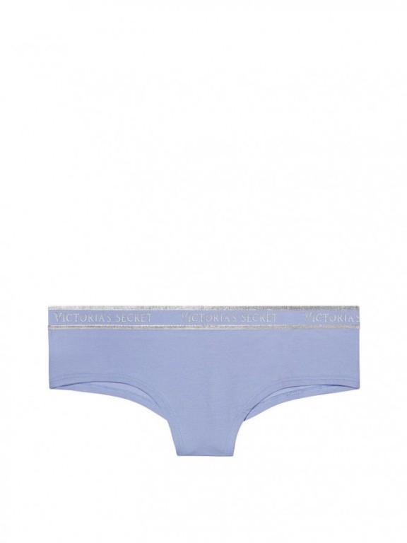 Victoria's Secret pohodlné brazilské kalhotky Bold Logo Cheeky Panty fialové