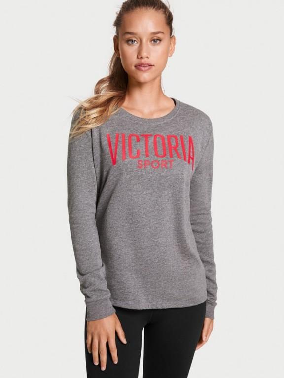 Victoria's Secret šedá sportovní mikina Fleece Pullover