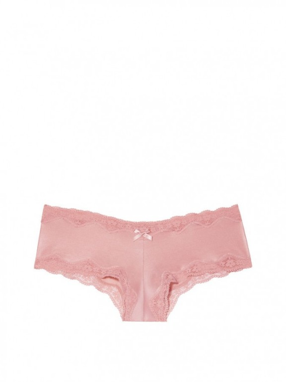 Victoria's Secret luxusní brazilské kalhotky Lace-Trim Cheeky Panty