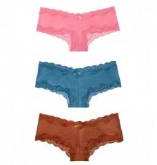 Set brazilských kalhotek Lace-trim Cheeky vel. S