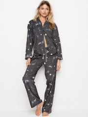 Tmavé pyžamo s potiskem