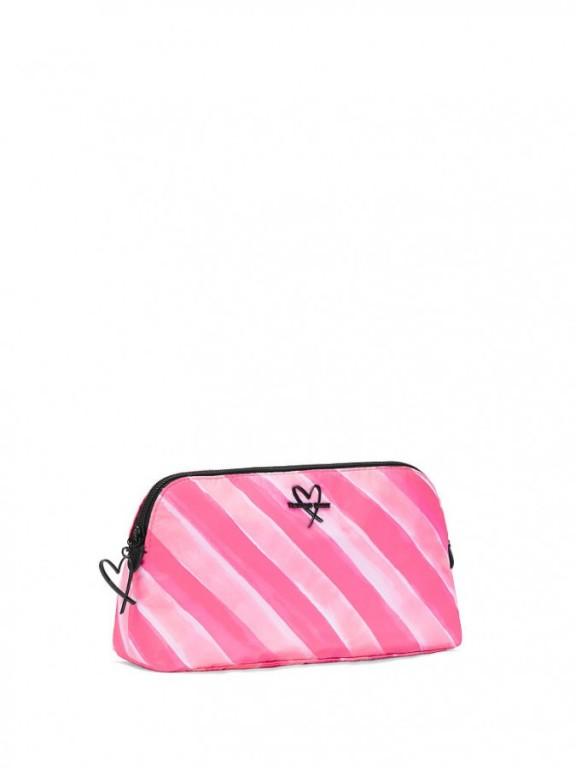 Victoria's Secret střední kosmetická taška Signature Stripe Beauty Bag