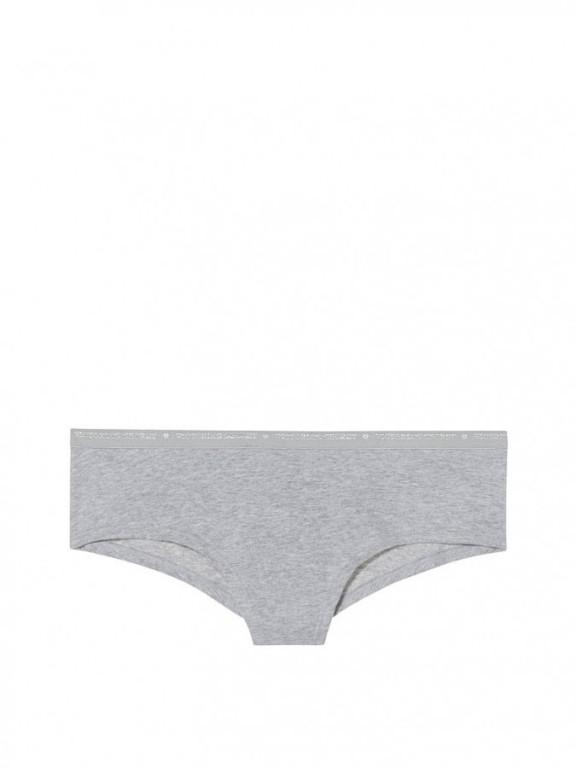Victoria's Secret bavlněné brazilské kalhotky Cheeky Panty šedé