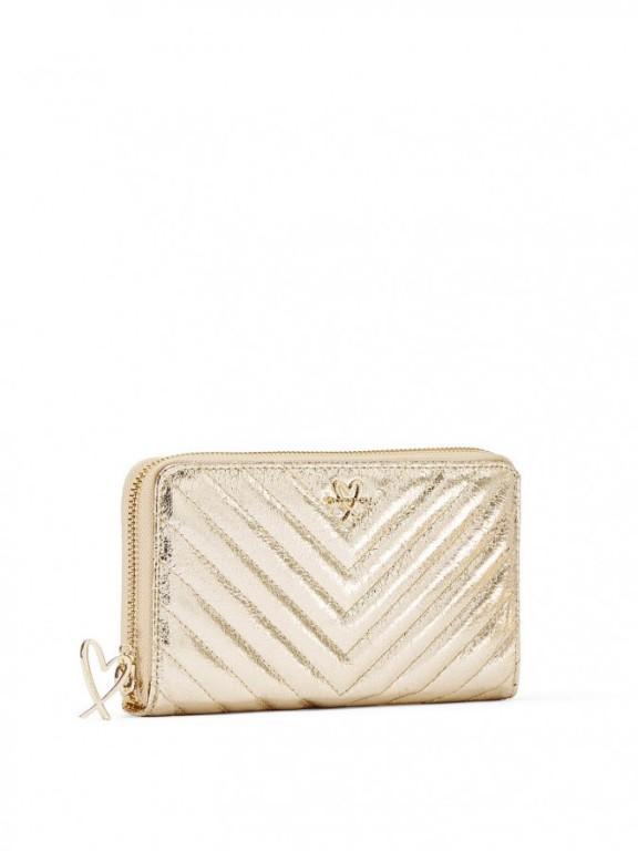 Velká peněženka Victoria's Secret Metallic Crackle Zip Wallet