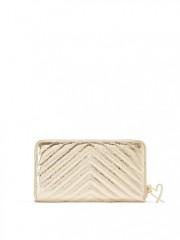 Zlatá peněženka/psaníčko se zapínáním na zip