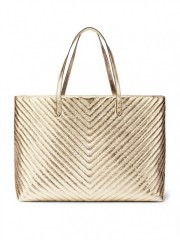 Metalická zlatá taška Victorias Secret