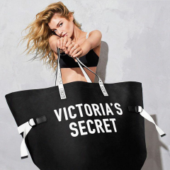 Velká černá plátěná taška Victorias Secret