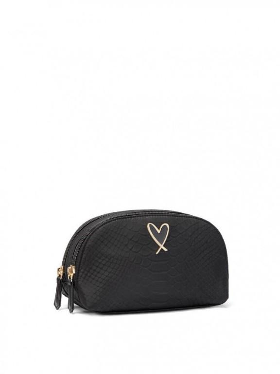 Victoria's Secret malá kosmetická taštička Python Beauty Bag černá