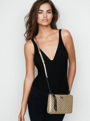 Crossbody kabelka Victorias Secret Metallic Crackle