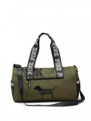 Šedá sportovní taška Victorias Secret PINK olivová