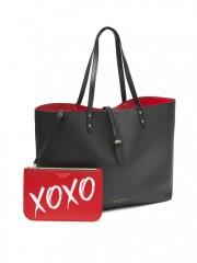 Luxusní koženková taška + malá červená taštička