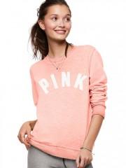 Oranžovo-růžová lehká mikinka Victorias Secret PINK