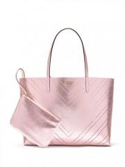 Luxusní prostorná kabela Victorias Secret růžová