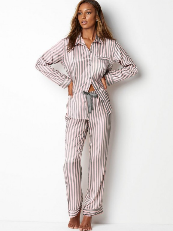 Saténové pyžamo Victoria's Secret The Afterhours Satin Pajama