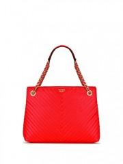Luxusní červená kabelka Victorias Secret - zepředu