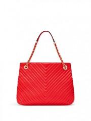 Luxusní červená kabelka Victorias Secret - zezadu