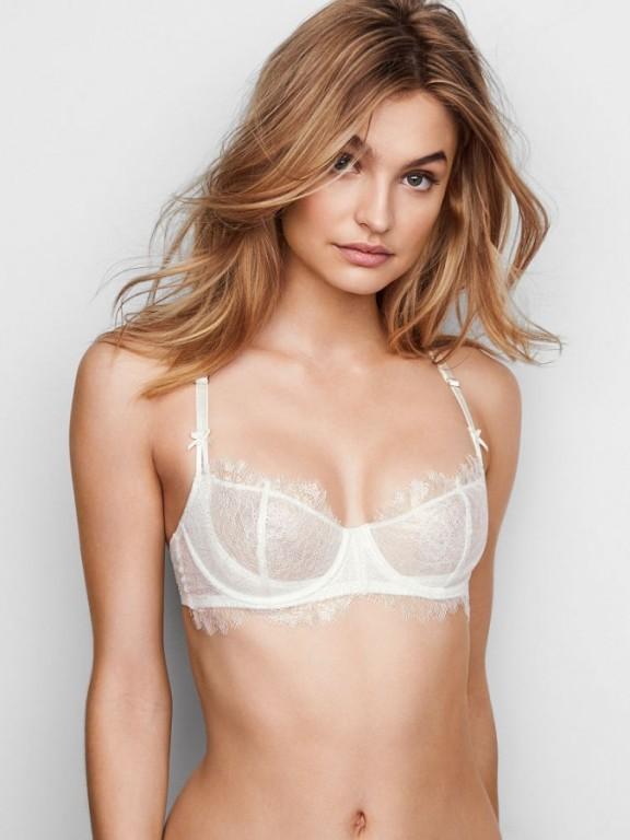 Victoria's Secret sexy krajková podprsenka Unlined Uplift Bra