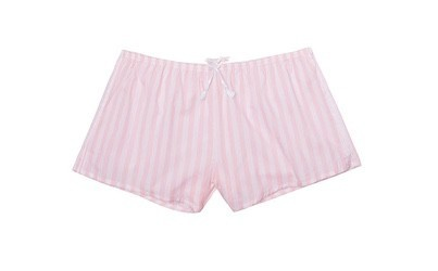 Victoria's Secret pohodlné kraťasy Sleep Short Pink-White Stripes