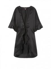 Černé saténové kimono Victorias Secret